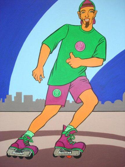 Schilderij 'Skater' - John van Draanen