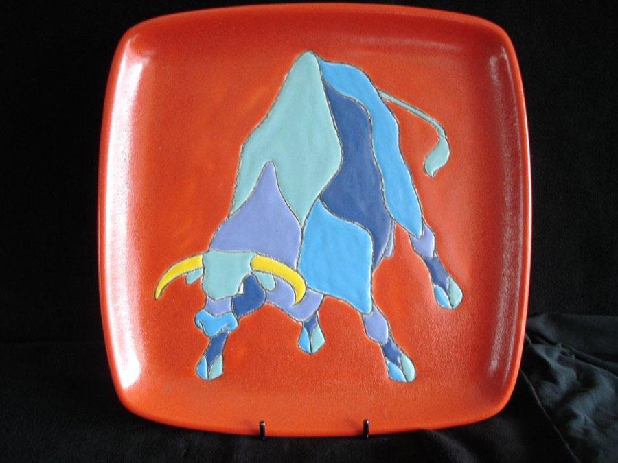 Keramisch bord 'Taurus'