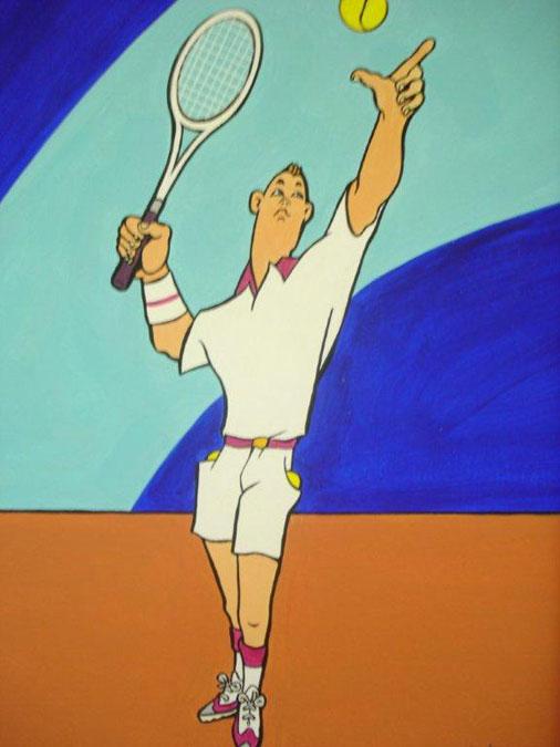 Schilderij 'Tennisser' - John van Draanen