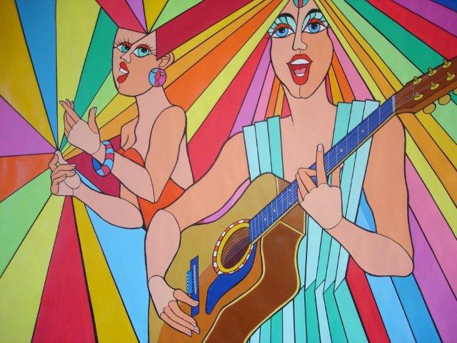 Schilderij 'Zing zin zing'