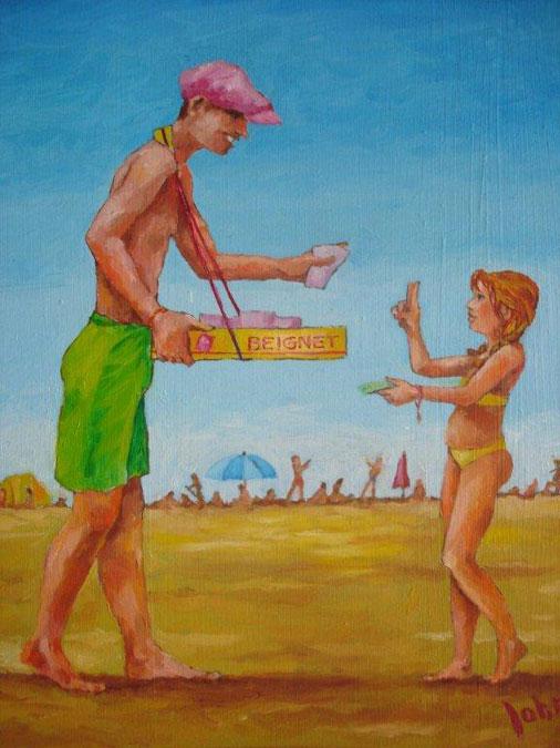 Schilderij 'Beignet' - John van Draanen' title=