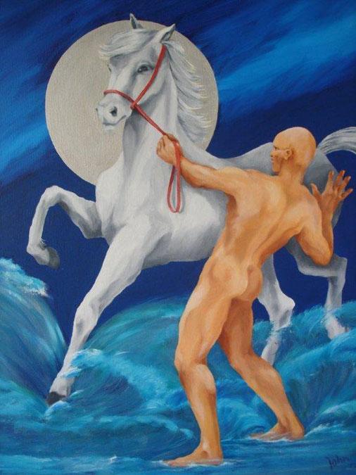 Schilderij 'Poseidon' - John van Draanen