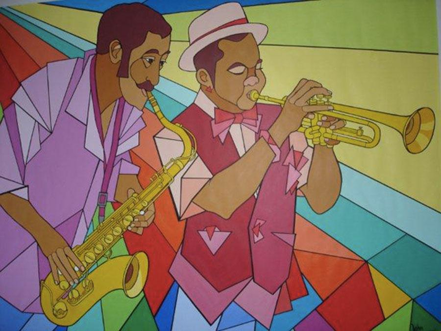 Schilderij 'Jazz Colors' - John van Draanen