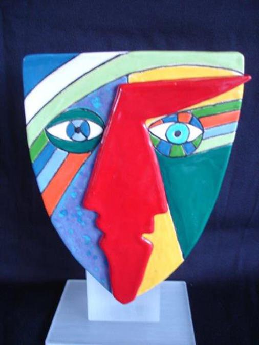 Keramisch object 'Arthead' - John van Draanen;